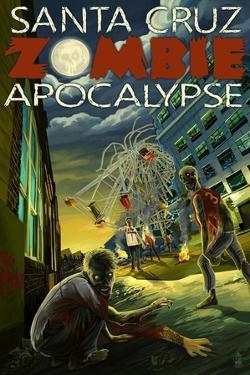 Santa Cruz, California - Zombie Apocalypse by Lantern Press