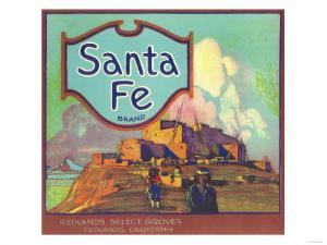 Santa Fe Orange Label - Redlands, CA by Lantern Press