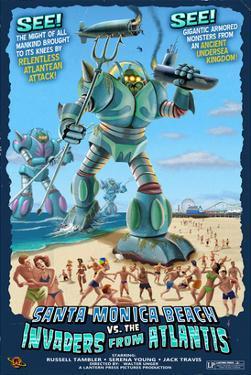 Santa Monica, California - Atlantean Invaders by Lantern Press