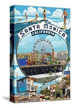 Santa Monica, California - Montage Scenes by Lantern Press