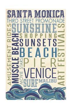 Santa Monica, California - Typography by Lantern Press