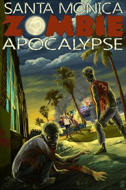 Santa Monica, California - Zombie Apocalypse by Lantern Press