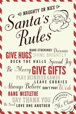 Santa's Rules Typography by Lantern Press