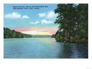 Saranac Lake, New York - Bartlett Carry Club View of Upper Saranac Lake by Lantern Press