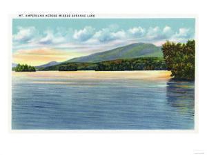 Saranac Lake, New York - Middle Saranac Lake View of Mount Ampersand by Lantern Press