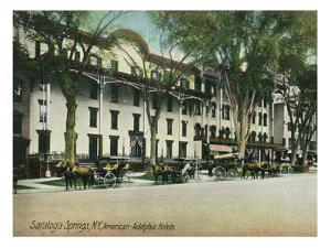 Saratoga Springs, New York - American-Adelphia Hotel Buildings by Lantern Press