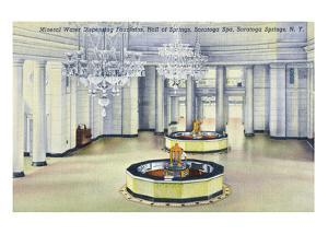 Saratoga Springs, New York - Hall of Springs Interior View by Lantern Press