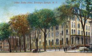 Saratoga Springs, New York - United States Hotel Exterior View by Lantern Press