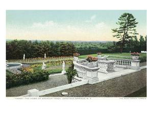 Saratoga Springs, New York - View from the Yaddo Rose Garden Terrace by Lantern Press