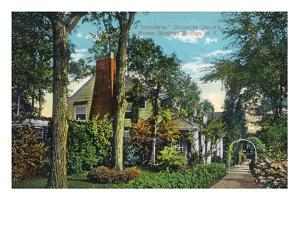 Saratoga Springs, New York - View of Inniscarra, Olcott Residence by Lantern Press