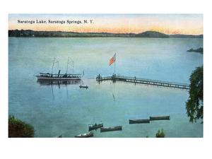 Saratoga Springs, New York - View of Saratoga Lake by Lantern Press