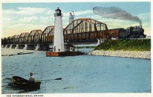 Sault Ste. Marie, Michigan - International Bridge Scene by Lantern Press