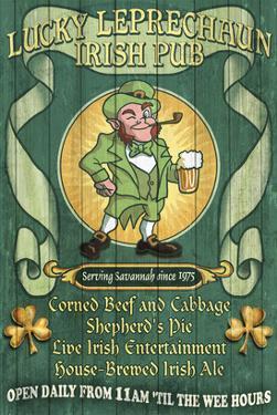 Savannah, Georgia - Leprechaun Irish Pub by Lantern Press