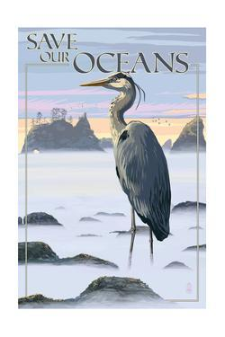 Save Our Oceans - National Park WPA Sentiment by Lantern Press
