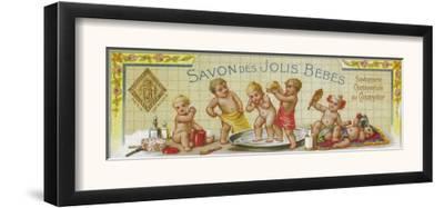 Savon Des Jolis Bebes Soap Label - Paris, France by Lantern Press