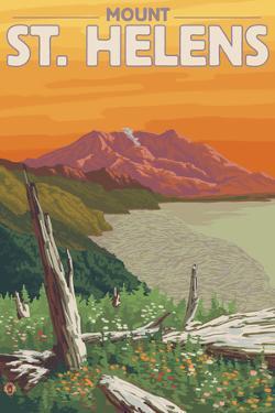 Scenic Mount St. Helens, Washington by Lantern Press
