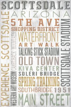 Scottsdale, Arizona - Barnwood Typography by Lantern Press