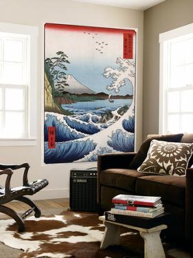 Sea at Satta in Suruga Province, Japanese Wood-Cut Print by Lantern Press