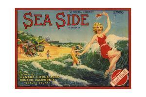 Sea Side Brand - Oxnard, California - Citrus Crate Label by Lantern Press