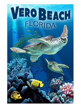 Sea Turtles - Vero Beach, Florida by Lantern Press