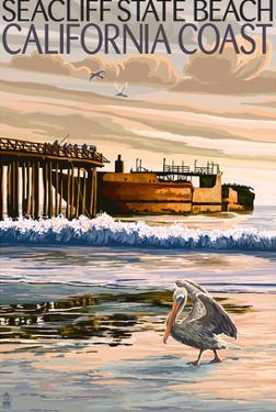 Seacliff State Beach, California Coast by Lantern Press