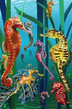 Seahorses by Lantern Press