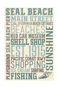 Seal Beach, California - Typography by Lantern Press