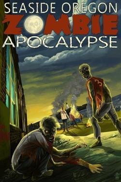 Seaside, Oregon - Zombie Apocalypse by Lantern Press