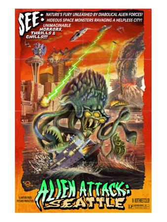 Seattle Alien Attack by Lantern Press