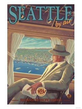 Seattle by Air by Lantern Press
