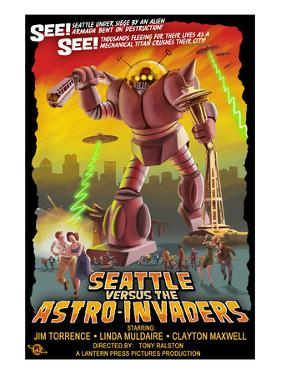 Seattle vs. Astro Invaders by Lantern Press