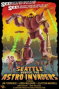 Seattle vs. Astro Invaders by Lantern Press