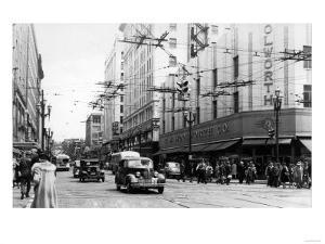 Seattle, WA Street Scene Downtown Photograph - Seattle, WA by Lantern Press