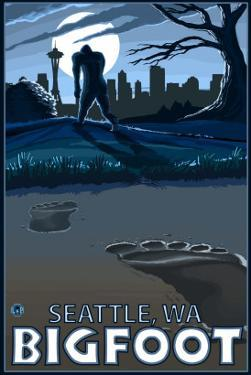 Seattle, Washington Bigfoot by Lantern Press