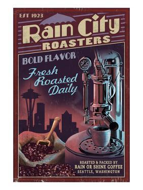 Seattle, Washington - Coffee Roasters by Lantern Press