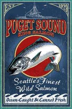 Seattle, Washington - King Salmon by Lantern Press