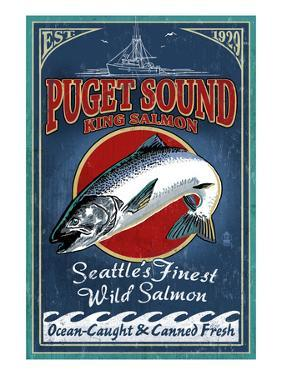 Seattle, Washington - King Salmon by Lantern Press