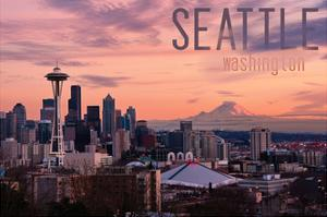 Seattle, Washington - Skyline at Twilight by Lantern Press
