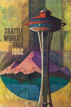 Seattle, Washington - Space Needle World's Fair Promo Poster No. 2 by Lantern Press