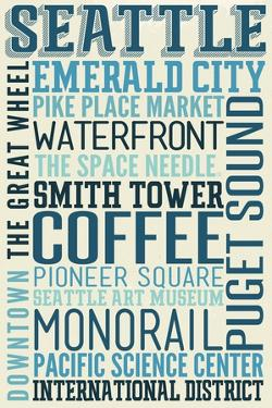 Seattle, Washington - Typography by Lantern Press