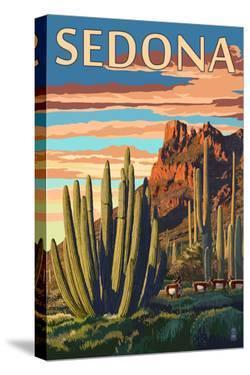 Sedona, Arizona - Organ Pipe Cactus by Lantern Press