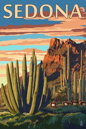 Sedona, Arizona - Organ Pipe Cactus by Lantern Press