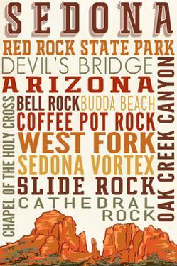 Sedona, Arizona - Typography (Version 2) by Lantern Press
