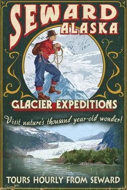 Seward, Alaska - Glacier Tours by Lantern Press