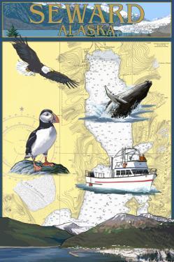Seward, Alaska - Nautical Chart by Lantern Press