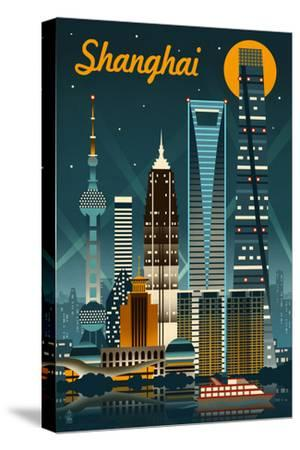 Shanghai, China - Retro Skyline
