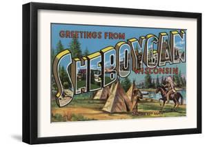 Sheboygan, Wisconsin - Large Letter Scenes by Lantern Press