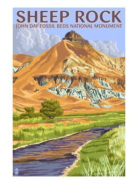 Sheep Rock - John Day Fossil Beds, Oregon by Lantern Press