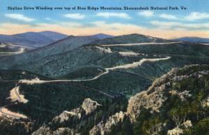 Shenandoah Nat'l Park, Virginia - Aerial View of Skyline Drive over Top of Blue Ridge Mts, c.1956 by Lantern Press