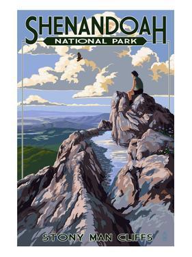 Shenandoah National Park, Virginia - Stony Man Cliffs View by Lantern Press